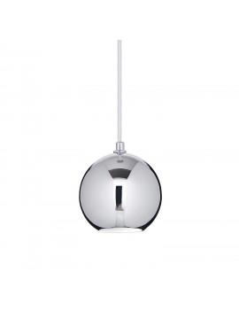 Lampadario moderno 1 luce cromato sfera Mr Jack Big