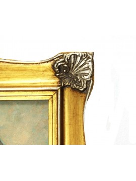 Quadro su tela cornice in legno 50x60 dama sissi art. 2-008