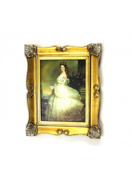 Picture on canvas wooden frame 50x60 lady sissi art. 2-008