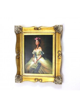 Painting on wooden frame 50x60 gold dame art. 4-008