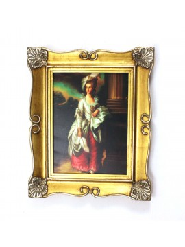 Painting on wooden frame 50x60 gold dame art. 7-008