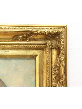 Quadro su tela cornice in legno 50x60 dama sissi art. 2-037