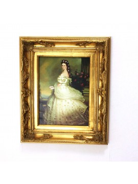 Picture on canvas wooden frame 50x60 lady sissi art. 2-037