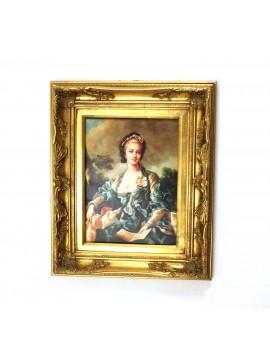 Quadro su tela cornice in legno 50x60 dama art. 5-037