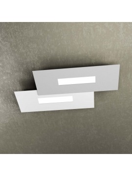 Modern design ceiling lamp 2 lucI tpl 1138-M1 white and gray