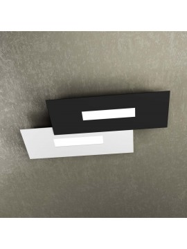 Modern design ceiling lamp 2 lucI tpl 1138-M1 white and black