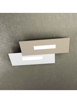Modern design ceiling lamp 2 lucI tpl 1138-M1 white and sand