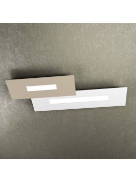 Modern design ceiling light 2 lights tpl 1138-M2 white and sand