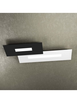 Modern design ceiling light 2 lights tpl 1138-M2 white and black