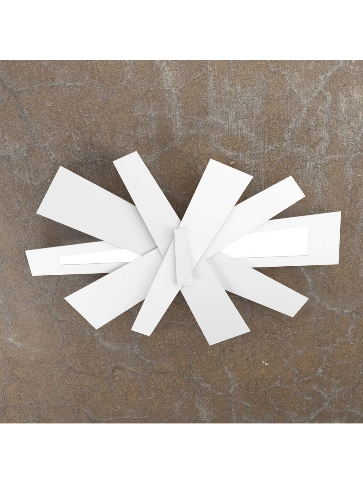 Plafoniera moderna design 2 luci tpl 1139 65 bianco for Plafoniera moderna