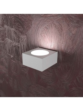 Applique moderno 1 luce design tpl 1127-ap grigio