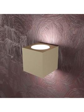 Applique moderno 2 luci design tpl 1127-ag sabbia