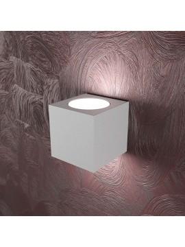 Applique moderno 2 luci design tpl 1127-ag grigio