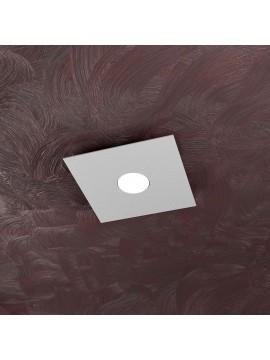 Plafoniera moderna 1 luce design tpl 1127-pl1 grigio