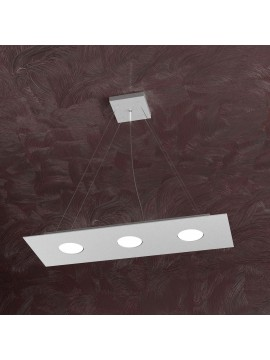 Modern chandelier 3 lights tpl design 1127-s3r gray