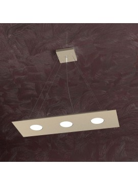 Modern chandelier 3 lights tpl design 1127-s3r sand