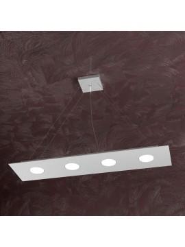 Modern chandelier 4 lights tpl design 1127-s4r gray