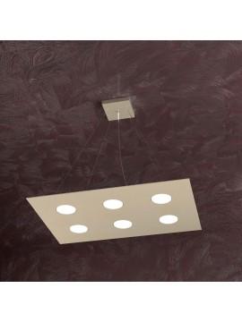 Modern chandelier 6 lights tpl design 1127-s6r sand