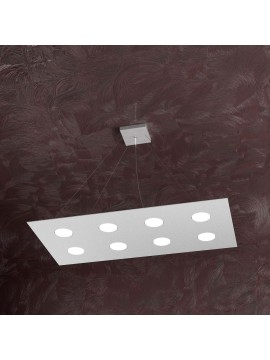 Modern chandelier 8 lights tpl design 1127-s8r gray
