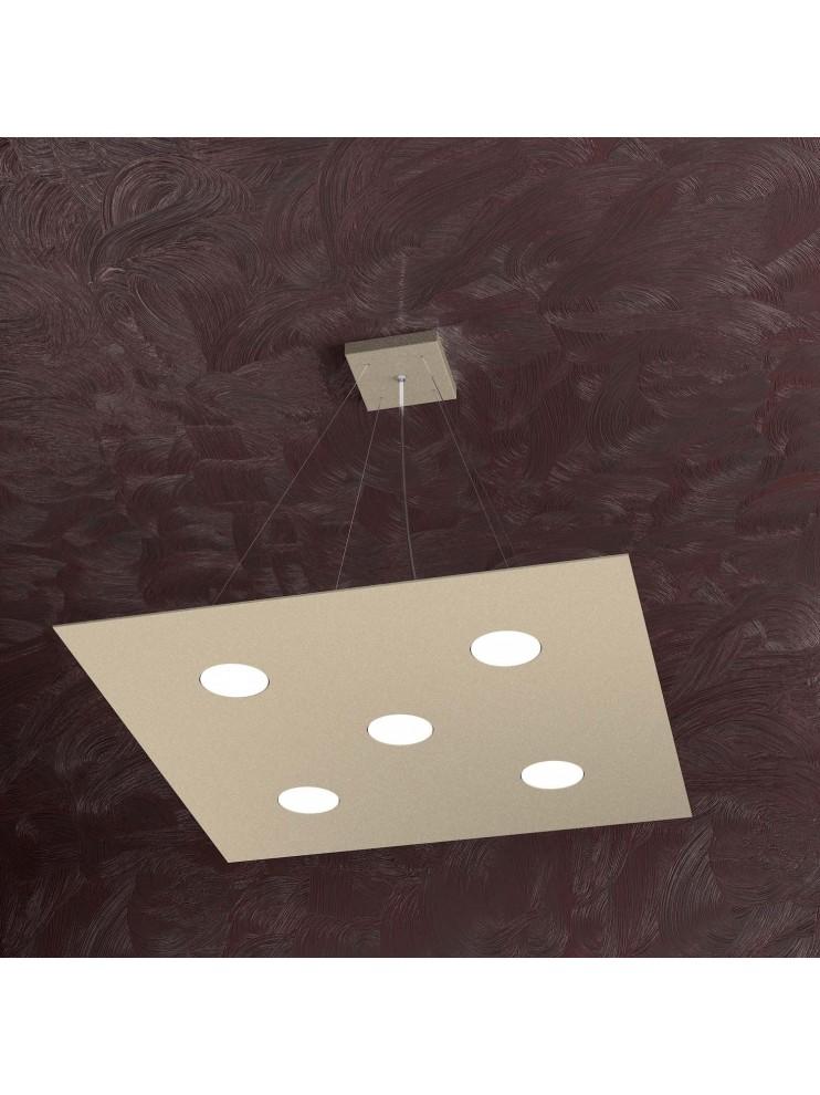 Lampadario moderno 5 luci design tpl 1127-s5 sabbia