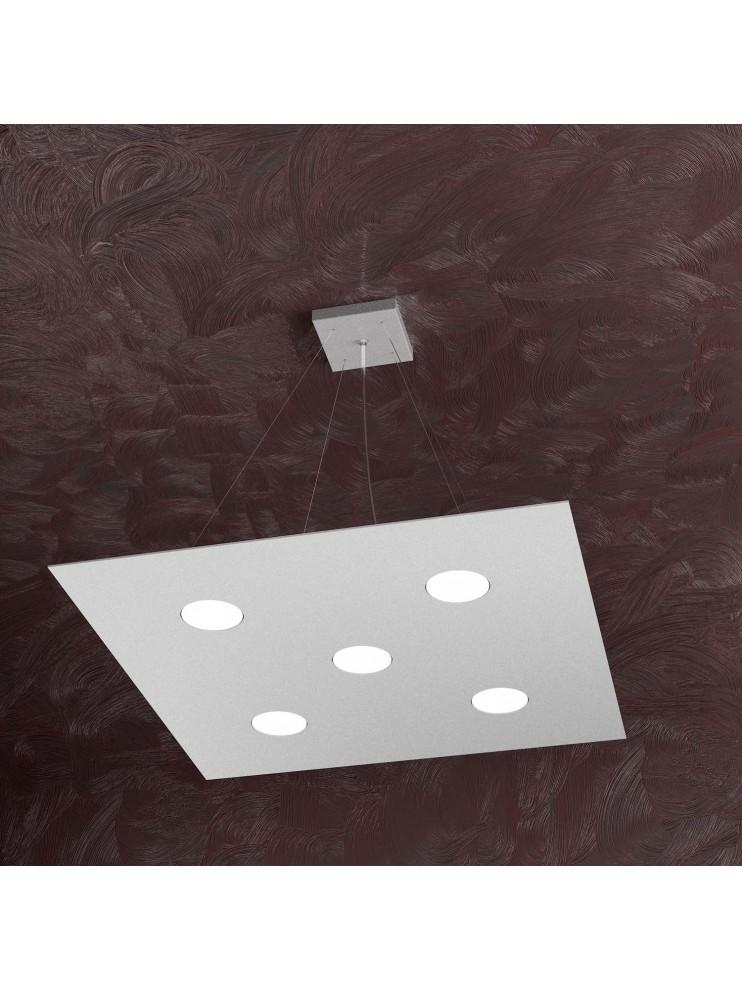 Lampadario moderno 5 luci design tpl 1127-s5 grigio