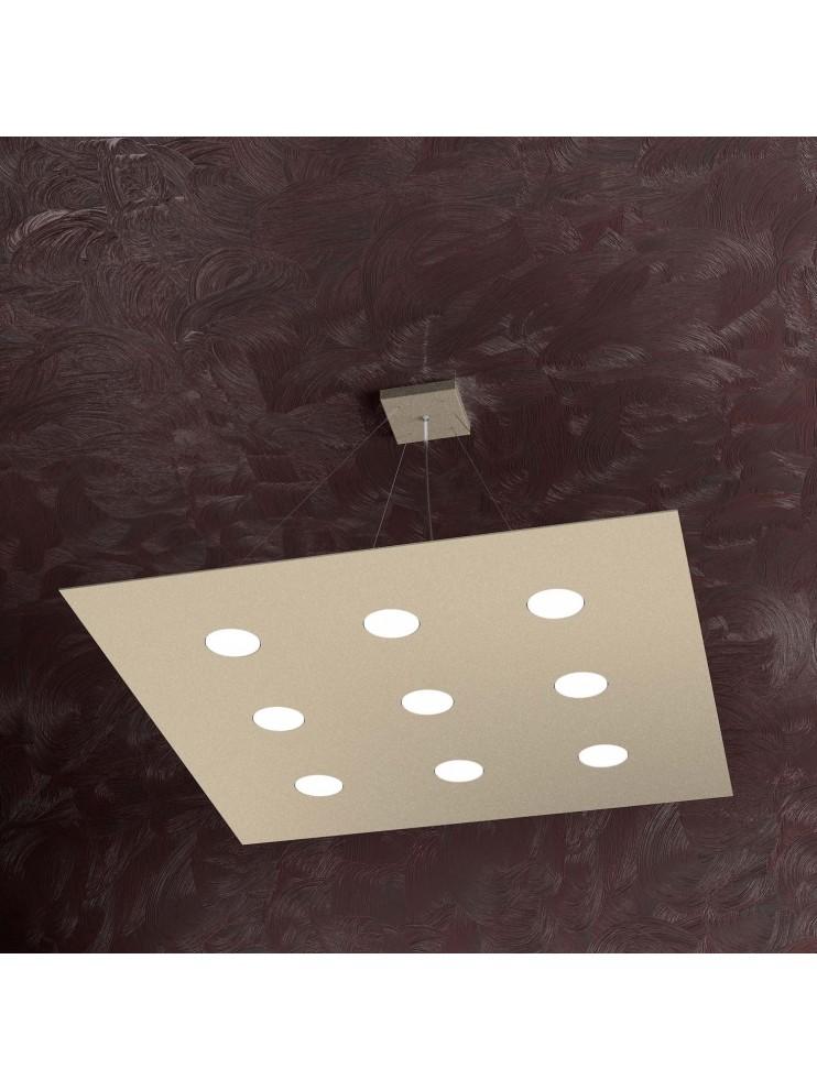 Lampadario moderno 9 luci design tpl 1127-s9 sabbia