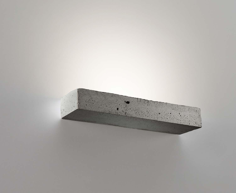 Applique moderno cemento a led w coll