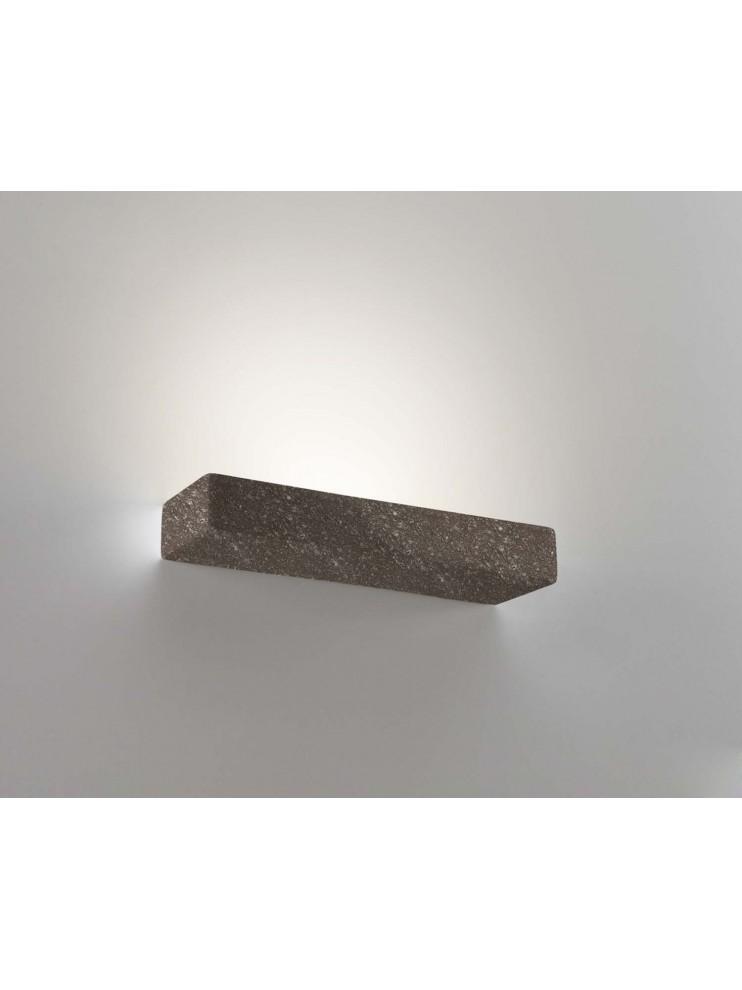 Ceramic brown stone wall light 1 light coll. 8430.380