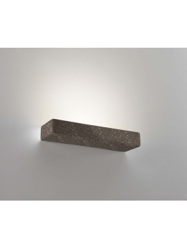 2 lights brown ceramic stone wall light coll. 8431.380