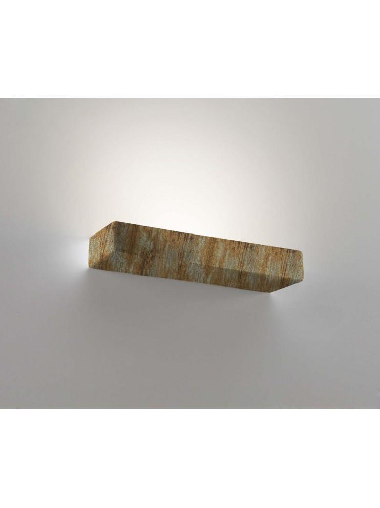Applique in ceramica colore ossido a 2 luci coll.8431.391