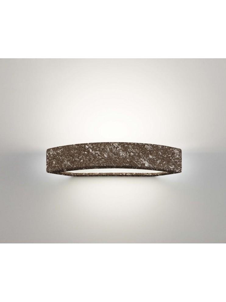 Applique in ceramica colore pietra marrone a 1 luce coll. 2293.380