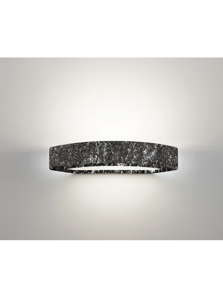 Wall lamp in black ceramic stone 1 light coll. 2293.382