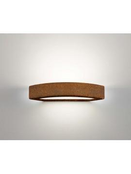 Applique in ceramica colore corten a 1 luce coll. 2293.390