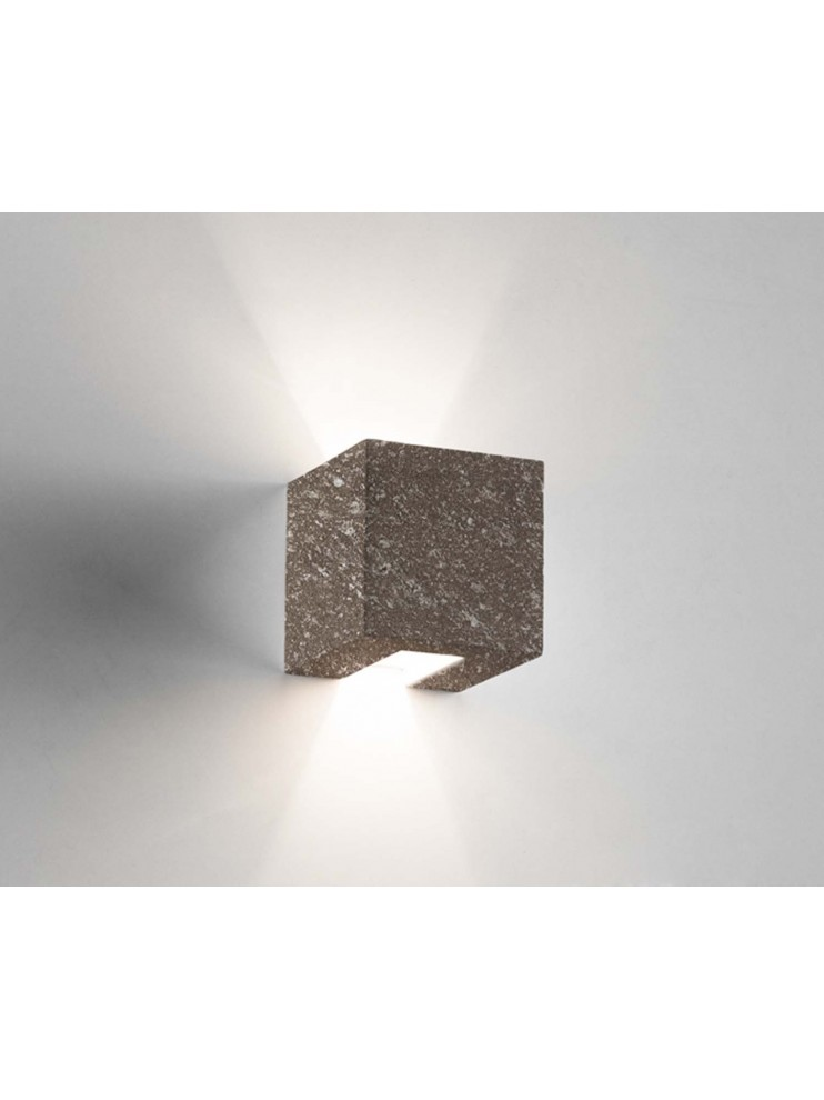 1 light brown ceramic stone wall light coll.2336.380