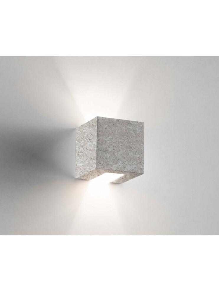 1 light gray ceramic stone wall light coll. 2336.381