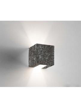 Applique in ceramica colore pietra nera a 1 luce coll. 2336.382