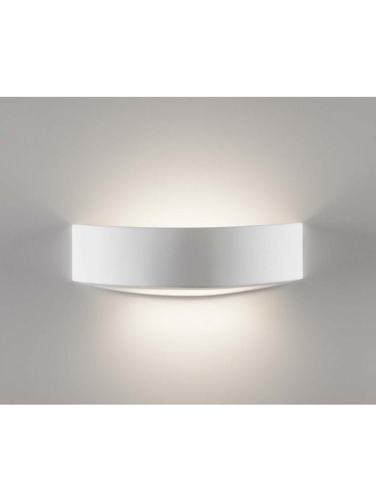 Applique moderno in ceramica bianco a 1 luce coll. 2604B108