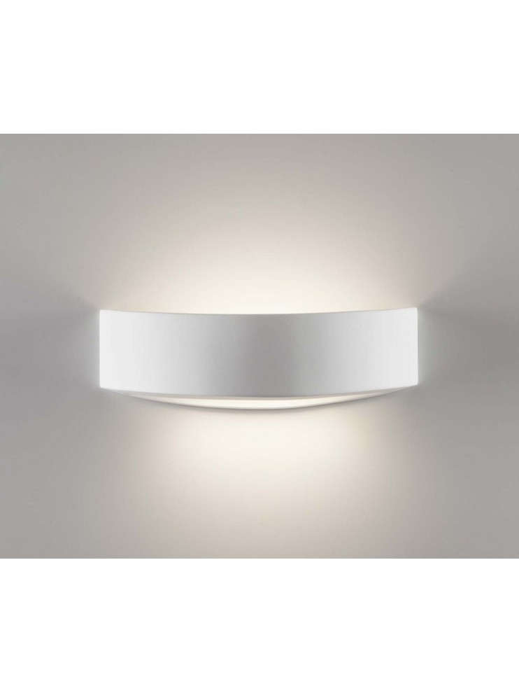 Modern wall lamp in white ceramic 1 light coll. 2604B108