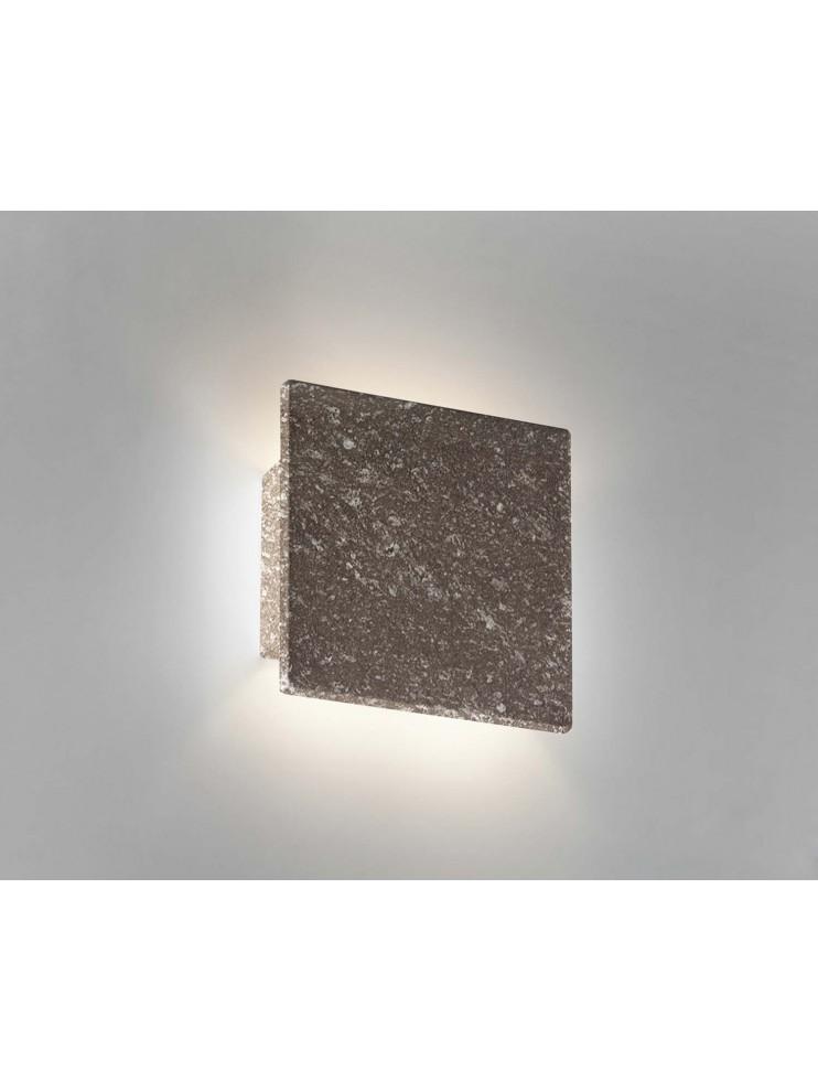 Applique in ceramica pietra marrone a 1 luce coll. 8672.380