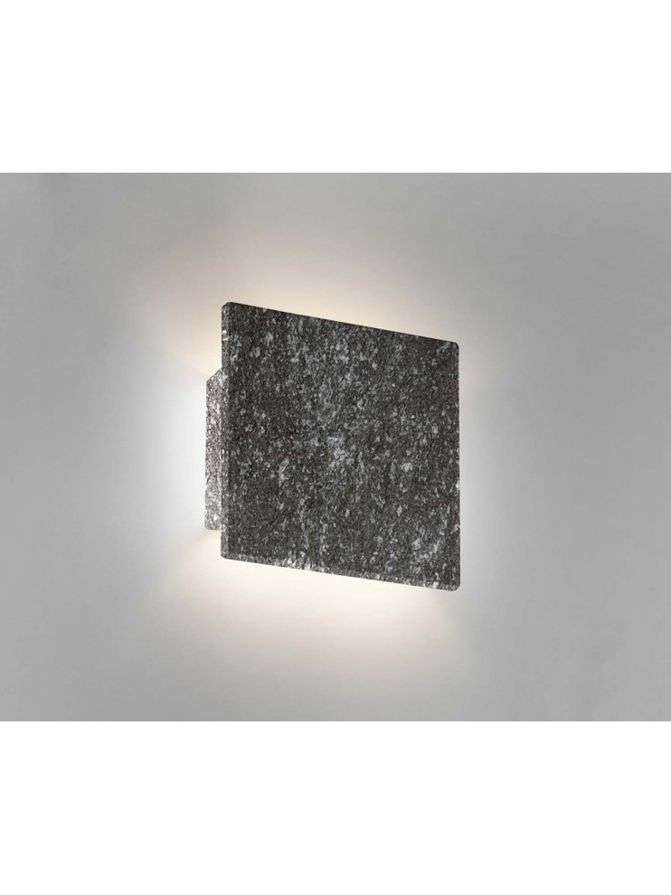 Wall sconce in ceramic gray stone color 1 light coll. 8672.382
