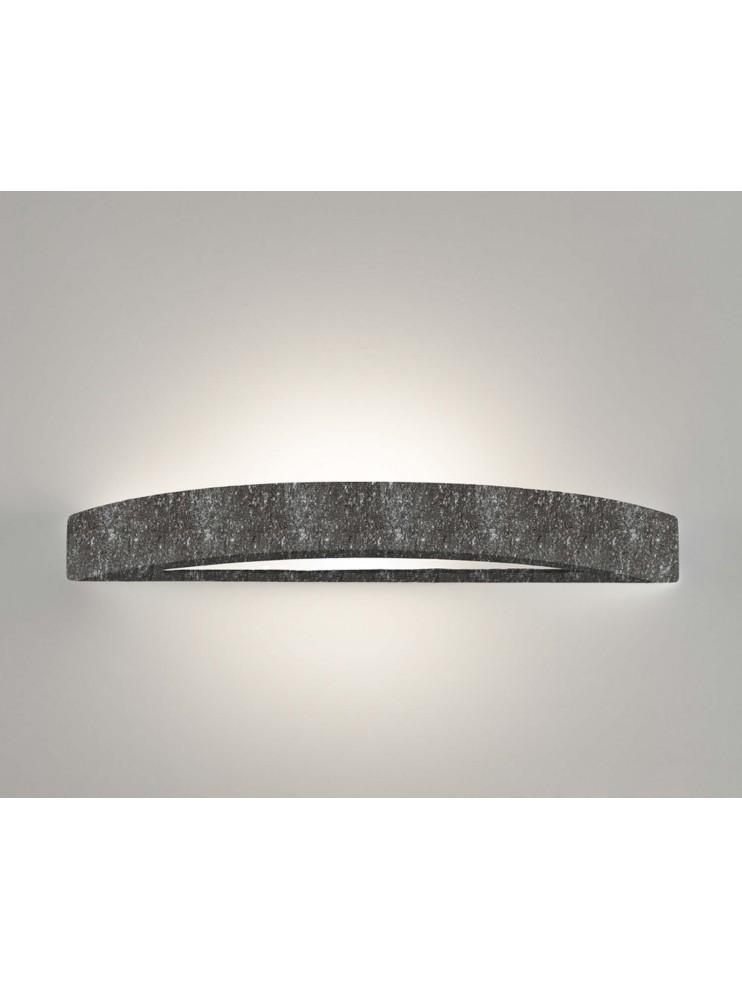 1 light black ceramic stone wall light coll. 8042.382
