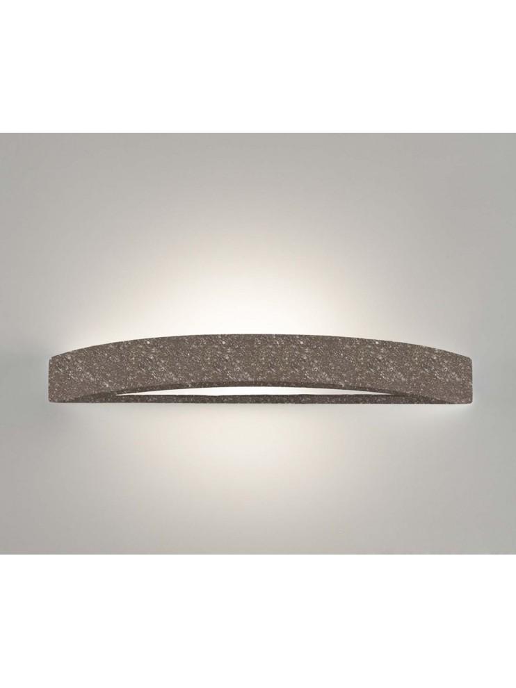 Applique in ceramica pietra marrone a 1 luce coll. 8144.380