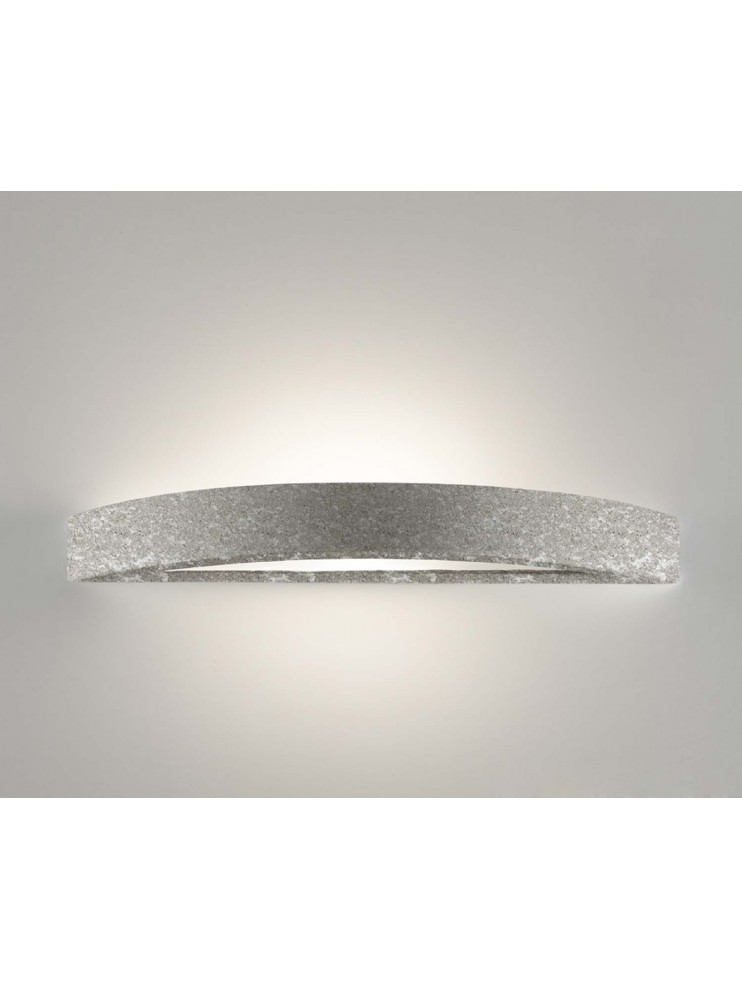 Wall sconce in ceramic gray stone color 1 light coll. 8144.381