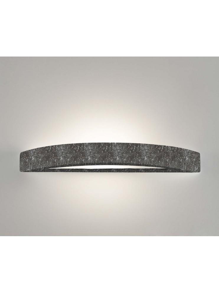 1 light black ceramic stone wall light coll. 8144.382