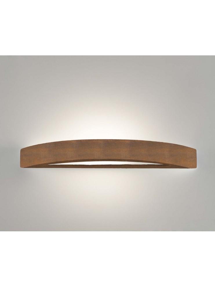 Applique in ceramica colore corten a 1 luce coll. 8144.390