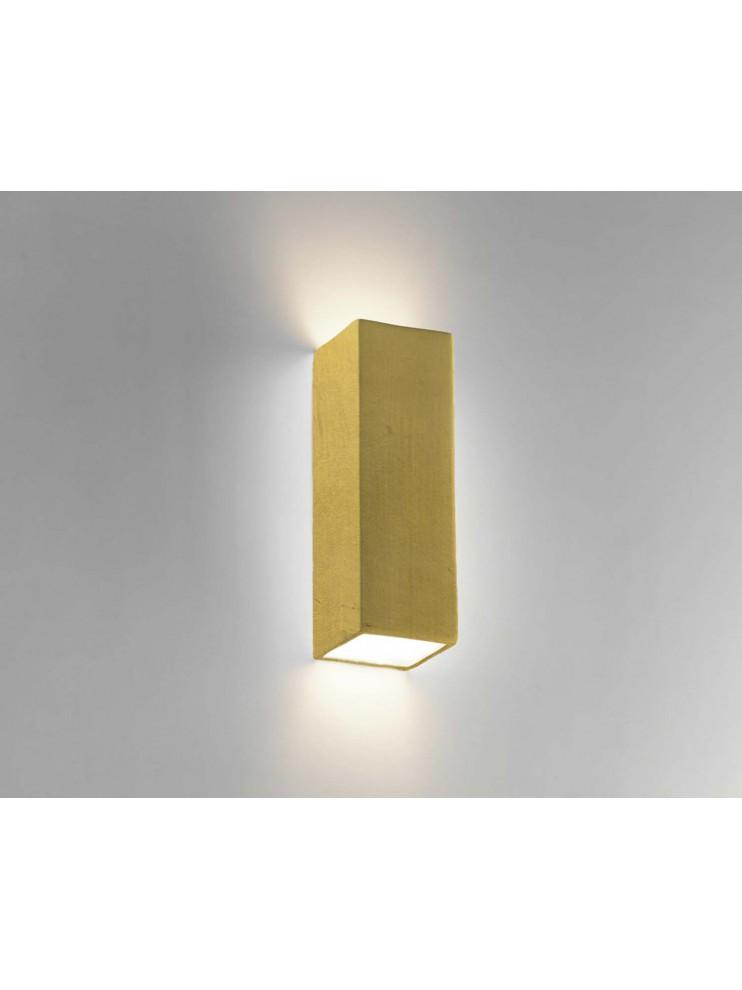 Applique in ceramica foglia oro a 2 luci coll. 8418.670