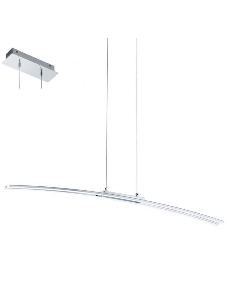 Lampadario a led 30w moderno cromato design GLO 95147 Lasana