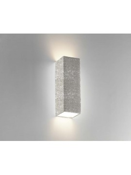 2 light gray ceramic stone wall light coll. 8418.381