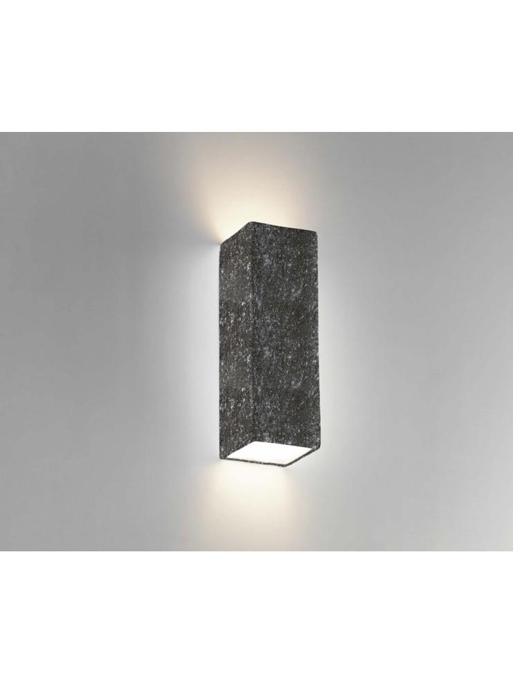 Applique in ceramica colore pietra nera a 2 luci coll. 8418.382