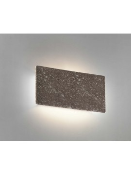 Applique in ceramica pietra marrone a 1 luce coll. 8673.380
